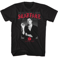 Scareface 80s Movie Tony Montana Japanese Adult Short Sleeve T-Shirt Graphic Tee