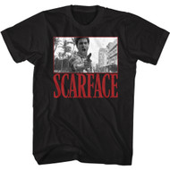Scareface 80s Movie Tony Montana They Came in Search Front & Back Print Adult Short Sleeve T-Shirt Graphic Tee