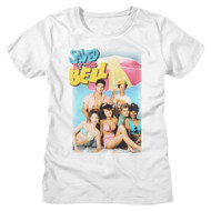 Saved by the Bell Cast on the Beach Photo Ladies Short Sleeve T-Shirt Graphic Tee
