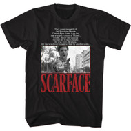 Scareface 80s Movie Tony Montana They Came In Search of The American Dream Adult Short Sleeve T-Shirt Graphic Tee