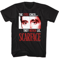 Scareface 80s Movie Tony Montana The Eyes Never Lie Adult Short Sleeve T-Shirt Graphic Tee