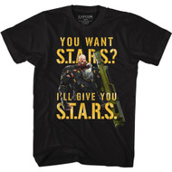 Resident Evil Video Game You Want S.T.A.R.S. Adult Short Sleeve T-Shirt Graphic Tee