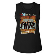 NSYNC 90s American Boy Band No Strings Attached Album Cover Ladies Muscle Tank Top