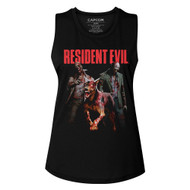 Resident Evil Video Game Monster Hits Ladies Muscle Tank Top Graphic Tee