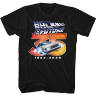 Back To The Future 80s Movie Chrome Logo 35th Anniversary Adult Short Sleeve T-Shirt Graphic Tee