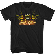 Back To The Future 80s Movie Outatime Lightning Bolts Adult Short Sleeve T-Shirt Graphic Tee