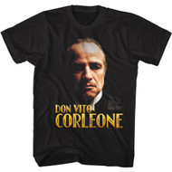 The Godfather Movie Don Vito Corleone Image Adult Short Sleeve T-Shirt Graphic Tee