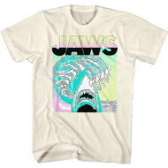 Jaws Horror Movie Neon Poster Image Adult Short Sleeve T-Shirt Graphic Tee