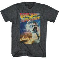 Back To The Future 80s Movie Marty McFly Movie Poster Adult Short Sleeve T-Shirt Graphic Tee