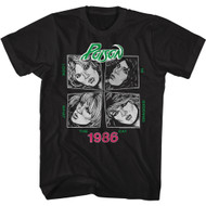 Poison Heavy Metal Band Look What The Cat Dragged In 1986 Adult Short Sleeve T-Shirt