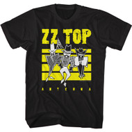 ZZ Top Rock Band Antenna Album Cover Adult Short Sleeve T-Shirt Graphic Tee