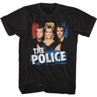 The Police 80s Band Logo & Musicians Image Adult Short Sleeve T-Shirt Graphic Tee