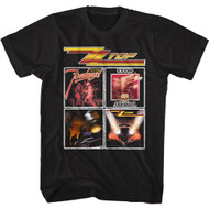 ZZ Top Rock Band Album Cover Images Adult Short Sleeve T-Shirt Graphic Tee