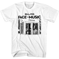 Bill & Ted Face The Music Black & White Phone Booth Image Adult Short Sleeve T-Shirt