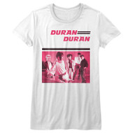 Duran Duran 80s Music Band Image Ladies Short Sleeve T-Shirt Graphic Tee