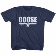 Top Gun 1980's Military Action Movie Vintage Goose Navy Little Boys T-Shirt