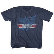 Top Gun 1980s Military Fighter Jet Blue Action Movie Toddler Little Boys T-Shirt