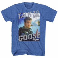 Top Gun 80's Military Action Movie Talk  To Me Retro Royal Heather Adult T-Shirt