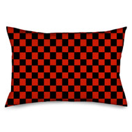 Black and Red Checkered Flag Checkers Pillow Case