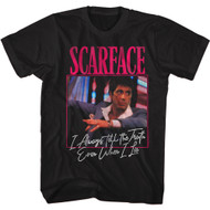 Scareface 80s Movie I Always Tell The Truth Adult Short Sleeve T-Shirt Graphic Tee