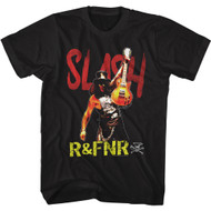 Slash Musician Slash R&FNR Guitar Image Adult Short Sleeve T-Shirt Tee