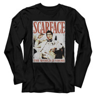 Scareface 80s Movie Tony Montana The World Is Yours Adult Long Sleeve T-Shirt