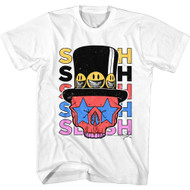 Slash Musician Slash Skull & Bones & Hat Smiley Faces Image Adult Short Sleeve T-Shirt