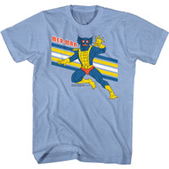 Masters of the Universe 80s Cartoon Mer-Man Image Adult Short Sleeve T-Shirt Tee