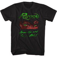 Poison Heavy Metal Band Open Up And Say Ahh Front & Back Print Adult Short Sleeve T-Shirt