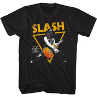Slash Musician Playing Guitar Triangle Image Adult Short Sleeve T-Shirt Graphic Tee