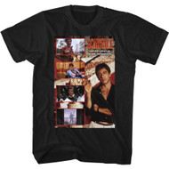 Scareface 80s Movie Tony Montana Images Adult Short Sleeve T-Shirt Graphic Tee
