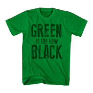 Irish Green Is The New Black 4 Leaf Clover St. Patty's Day Adult T-Shirt Tee