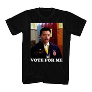 Napoleon Dynamite Comedy Movie Vote For Me Black Adult T-Shirt Tee