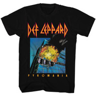 Def Leppard Pyromania 80s Heavy Hair Metal Band Rock and Roll Adult T-Shirt Tee