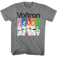 Voltron Animated Series Group Shot Adult Short Sleeve T-Shirt Graphic Tee