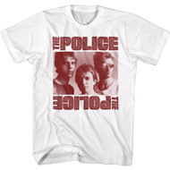 The Police 80s Band Monochrome Band Photo Adult Short Sleeve T-Shirt Graphic Tee