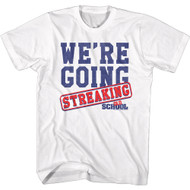 Old School Movie We're Going Streaking Adult Short Sleeve T-Shirt Graphic Tee