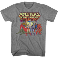 Masters of The Universe 80s Cartoon Group Shot Adult Short Sleeve T-Shirt Tee