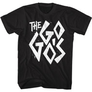 The Go Go's 80s Band Distress Logo Adult Short Sleeve T-Shirt Graphic Tee