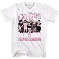 The Go Go's 80s Band 1982 Japan Tour Adult Short Sleeve T-Shirt Graphic Tee
