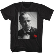 The Godfather Movie Vito Corleone Rose Don Adult Short Sleeve T-Shirt Graphic Tee