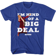 Anchorman Movie Ron Burgundy I'm Kind of A Big Deal Adult Short Sleeve T-Shirt