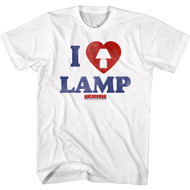 Anchorman Movie I Love Lamp Image Adult Short Sleeve T-Shirt Graphic Tee