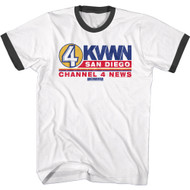 Anchorman Movie Channel 4 KVWN San Diego Adult Short Sleeve T-Shirt Graphic Tee