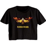 Silence of The Lambs 90s Thriller Movie Moth Ladies Short Sleeve Crop Top Shirt