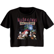 Killer Klowns 80's Horror Sci-Fi Movie From Outer Space Ladies Crop Top Shirt
