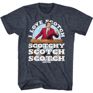 Anchorman Movie Ron Burgundy I Love Scotch Ault Short Sleeve T-Shirt Graphic Tee