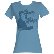 Saved By The Bell 80's Comedy I'm Having A Zach Attack! Ladies T-Shirt
