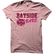 Saved By The Bell 80's Comedy Sitcom Bayside Tiger Babe Pink Juniors T-Shirt