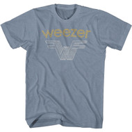 Weezer Rock Band 3D Stacked Logo Adult Short Sleeve T-Shirt Graphic Tee